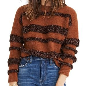 Madewell Tinsel Stripe Pullover Sweater